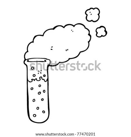 Cartoon Bubbling Science Beaker Water Stock Vector