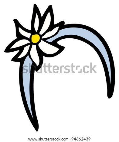 flower headband cartoon stock vector