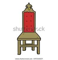 Broken Old Chair Cartoon Stock Vector 72617632