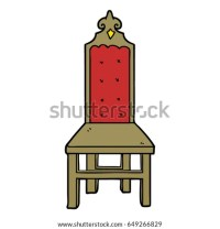 Broken Old Chair Cartoon Stock Vector 72617632 - Shutterstock