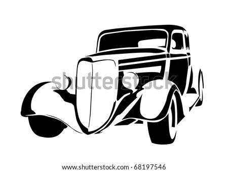 Classic Car White Background Stock Images, Royalty-Free