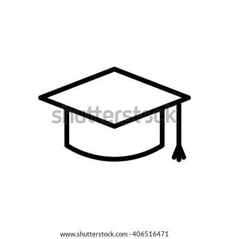 Graduation Cap Fully Scalable Vector Icon Stock Vector