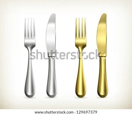 Gold Fork Stock Images RoyaltyFree Images Vectors
