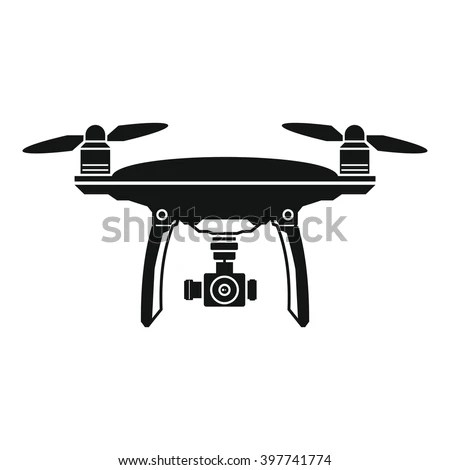 Vector Illustration Drone Quadrocopter Isolated On Stock