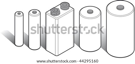 Battery Types Stock Images, Royalty-Free Images & Vectors