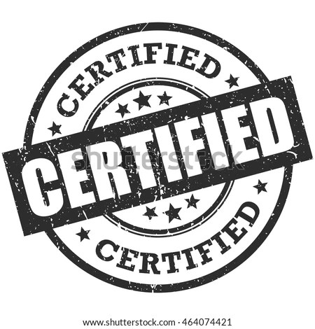 Certified Logo Stock Images, Royalty-Free Images & Vectors