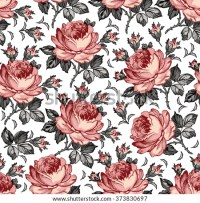 Roses Seamless Classic Pattern Beautiful Pink Stock Vector ...