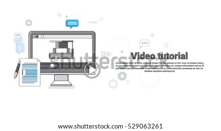 Print Ready Web Concept Illustration Background Stock