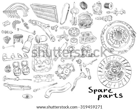 Spare Parts Stock Photos, Royalty-Free Images & Vectors