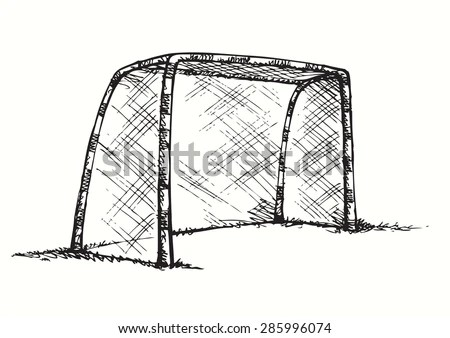 Big Athletic Foot Ball Goalpost On Stock Vector 285996074