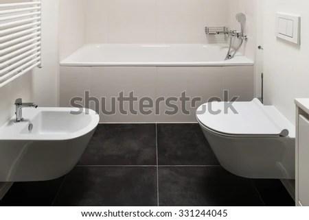 Simple Elegant White Half Bathroom Wainscot Stock Photo 23194909  Shutterstock