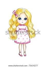 cute little girl blond hair