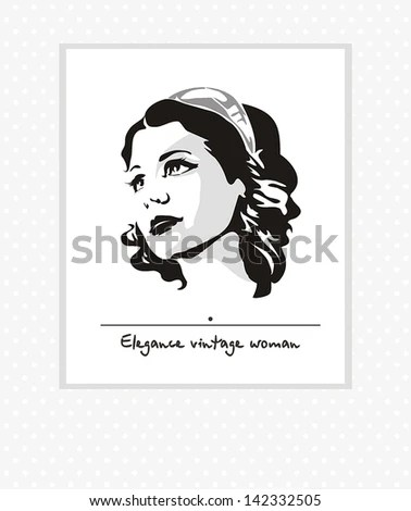 Woman Profile Silhouette Clipart Stock Photos, Images