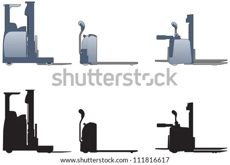 Hand Operated Fork Lift Trucks Stock Vector 111816617  Shutterstock