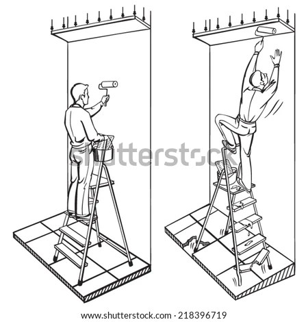 Ladder Safety Stock Images, Royalty-Free Images & Vectors