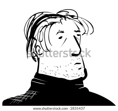 Middle Aged Man Cartoon Stock Illustration 2835437