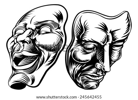Comedy Tragedy Masks Stock Images, Royalty-Free Images