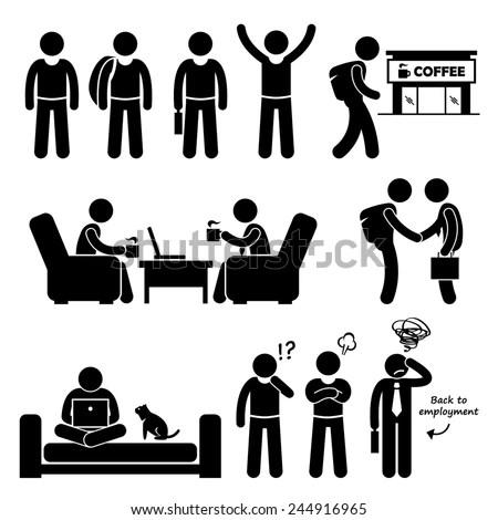 correct posture lounge chair swivel barrel chairs good bad human body stick stock vector 175132328 - shutterstock