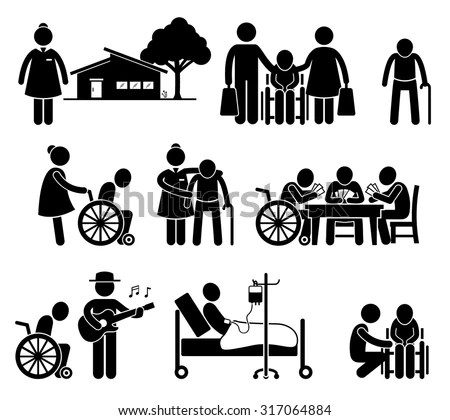 Elderly Care Nursing Old Folks Home Vector de stock317064884 Shutterstock