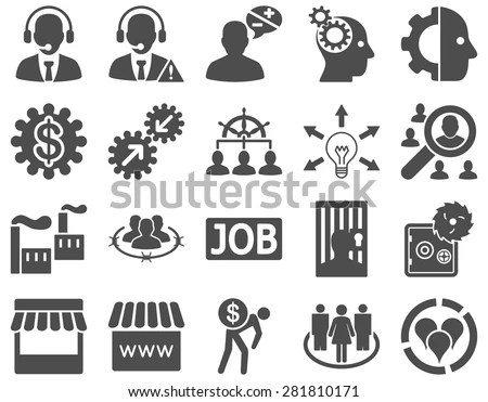 Business Service Management Icons These Flat Stock Vector