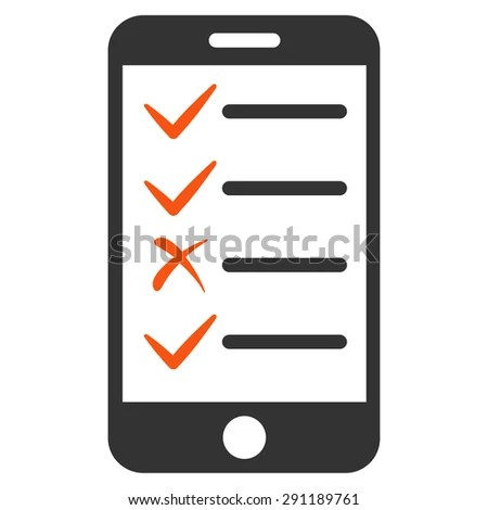 Mobile Tasks icon from Commerce Set. Vector style: bicolor