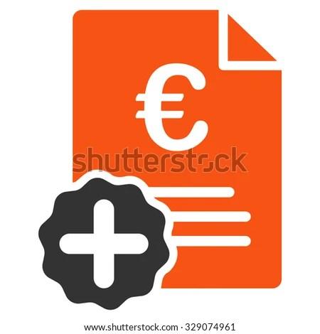 Euro Medical Invoice Vector Icon Style Stock Vector (2018) 329074961 ...