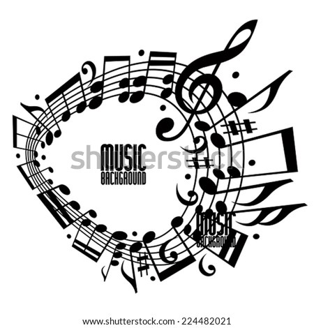 Abstract Art Music Background Musical Notes Stock Vector