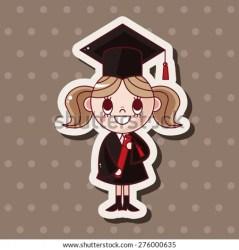 cartoon graduate student students icon sticker icons shutterstock