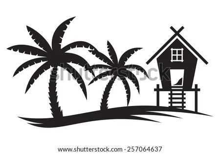 Tropical Summer Vector Illustration Palm Tree Stock Vector