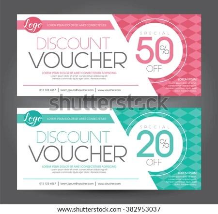 Vector Illustration Discount Voucher Template Clean Stock