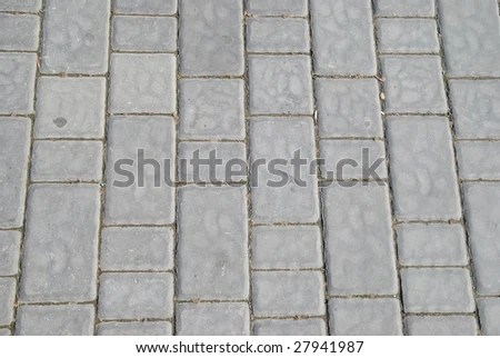 Several Rows Rough Textured Concrete Block Stock Photo