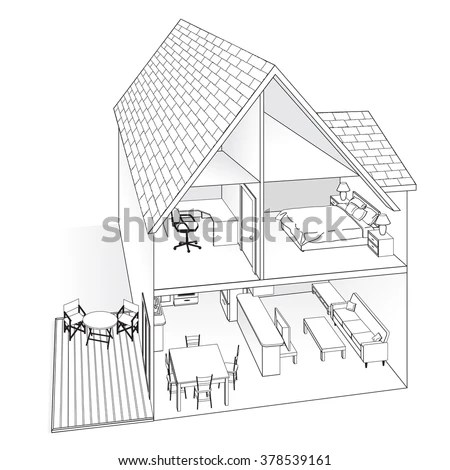 House Cross Section Stock Images, Royalty-Free Images