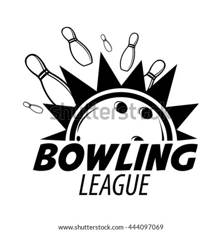 Bowling Tournament Poster Template Sport Game Stock Vector
