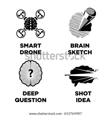 Smart Brain Innovative Intelligence Idea Vector Stock Vector ...