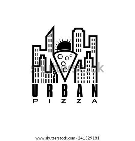 Urban Electricity Vector Design Template Stock Vector
