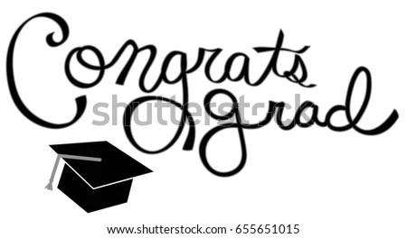Congratulations Graduate Class 2017 Stock Vector 526264162