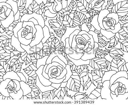 Black And White Floral Pattern Stock Images, Royalty-Free