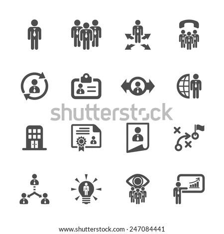 Simple Set Head Hunting Related Vector Stock Vector