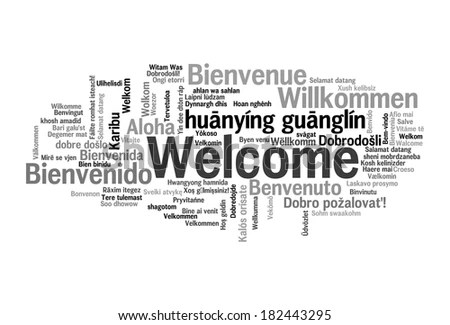 Different Languages Welcome Stock Images, Royalty-Free