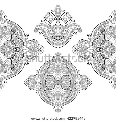 Lotus Hamsa Elephant Ganesha Other Symbols Stock Vector