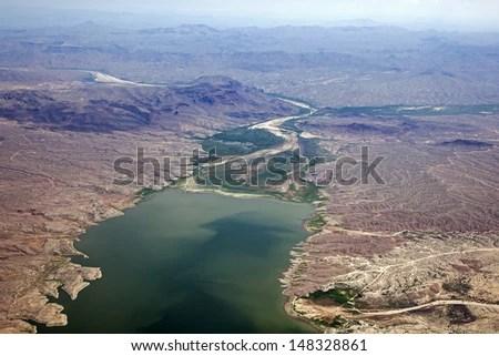 typical mountain bird eye view