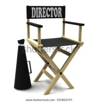 Film industry: directors chair with retro megaphone ...