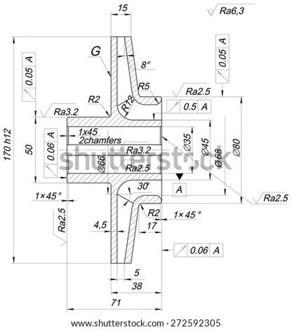 Structural Drawing Reinforced Concrete Structure Stair