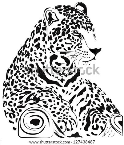 Black White Jaguar Vector Stock Vector (Royalty Free