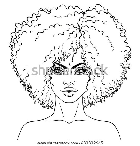 African American Pretty Girl Vector Illustration Stock