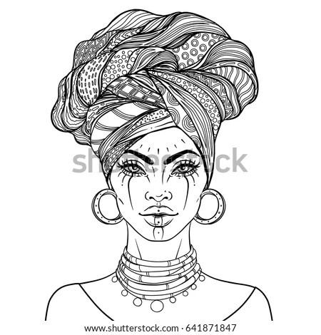 African American Pretty Girl Vector Illustration Stock