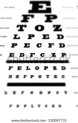 Eyesight Concept Test Chart Letters Getting Stock