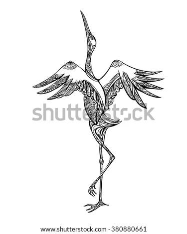 Bird Sitting On Branch Other Flies Stock Vector 529847761