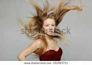 hair blowing stock