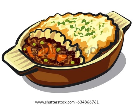 mashed potatoes stock vectors